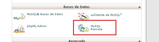 mysql remoto