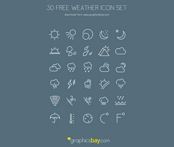 weather flat icons free