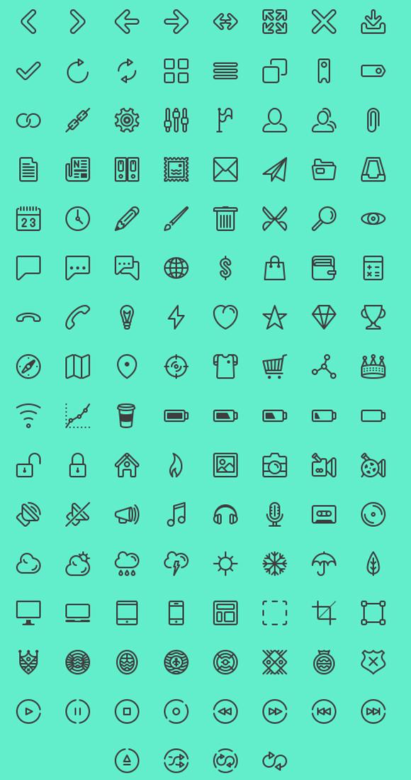 iconos lineales gratis